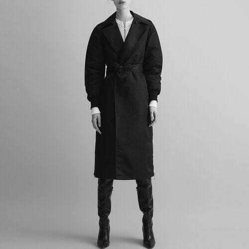 Trenchcoat mit Reißverschlüssen : Manteaux farbe Schwarz