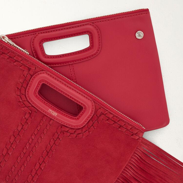 M Duo Clutch aus gestepptem Leder : M Duo farbe Rot