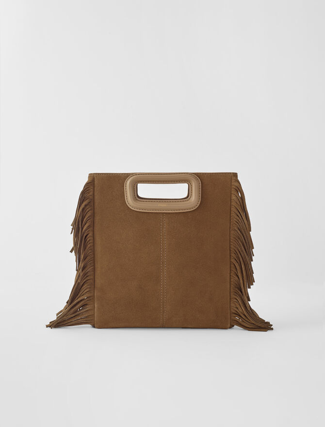 M-Tasche aus Veloursleder -  - MAJE