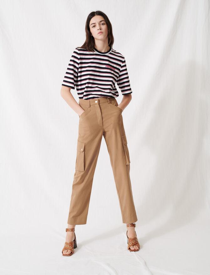 Camelfarbene Baumwollhose - Hosen & Jeans - MAJE