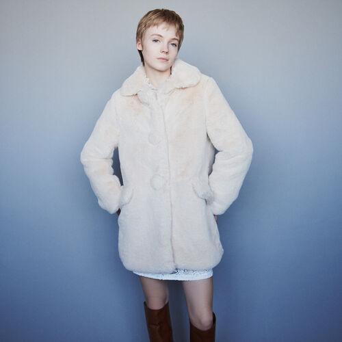 Faux fur coat : Kampagne FW19 farbe Fleisch