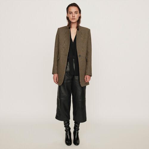 Karo Mantel : Winter Kollektion farbe Braun