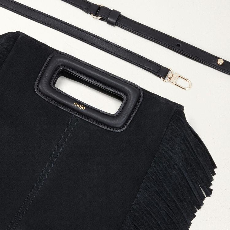 M Tasche aus Veloursleder : Alles einsehen farbe Schwarz