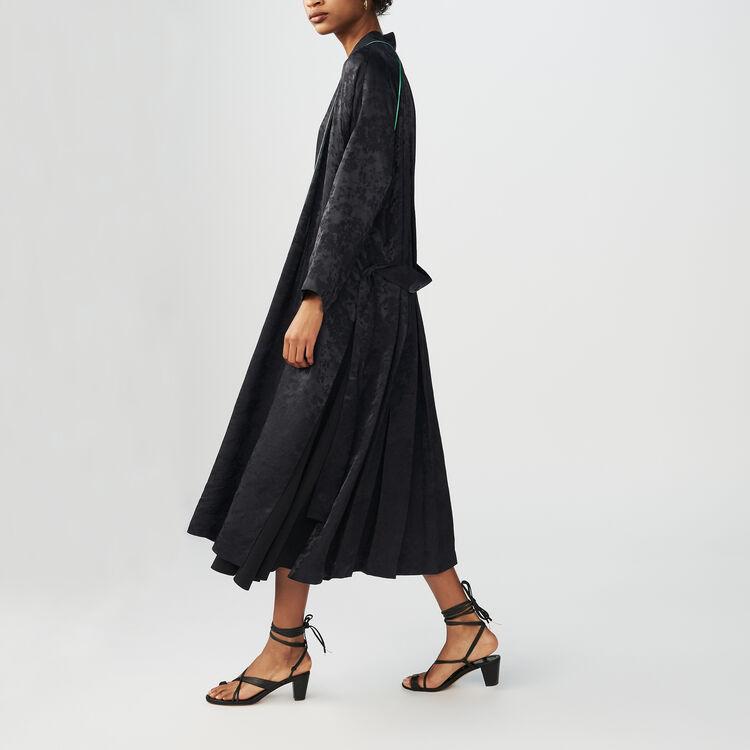 Lange Jacqurd-Jacke im Kimono-Stil : Blazers farbe Schwarz