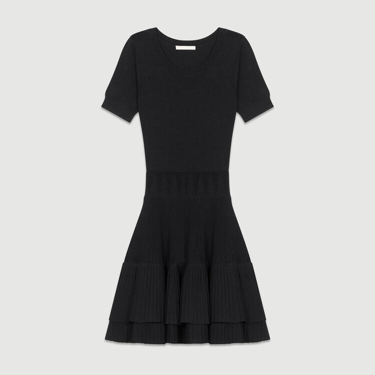 Langes ärmelloses Spitzenkleid : Kleider farbe Schwarz