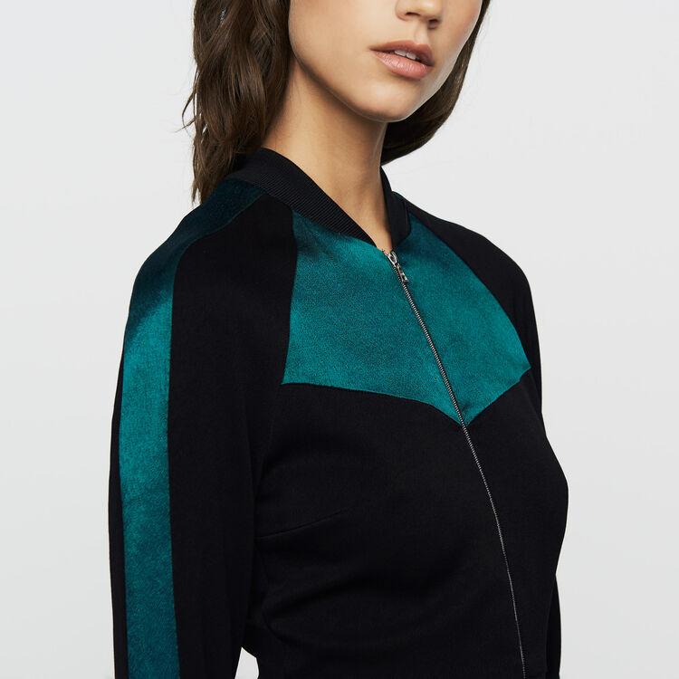 Zweifarbiges Teddy-Kleid : Neue Kollektion farbe Schwarz