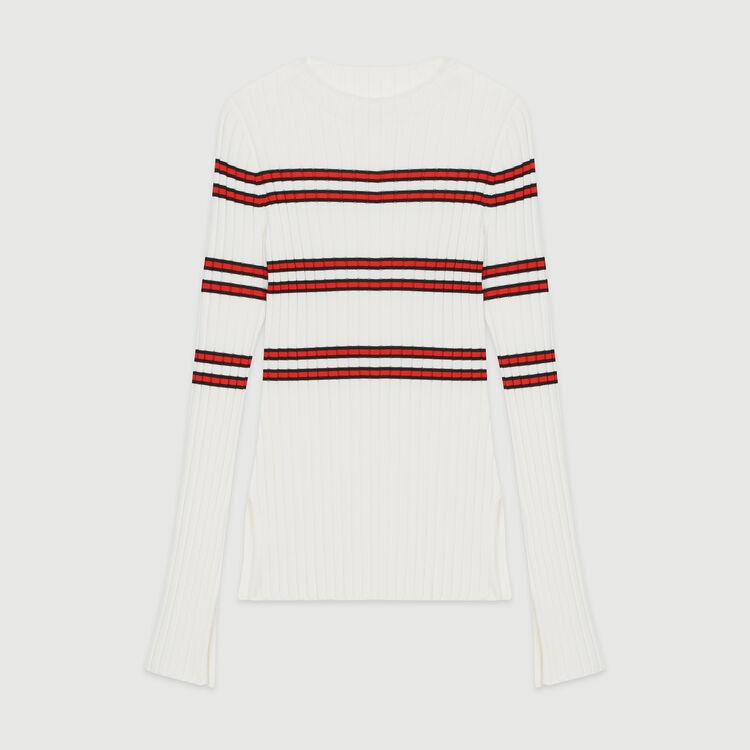 Feinstrickpullover mit Streifenmuster : Pullover & Strickjacken farbe Gestreift