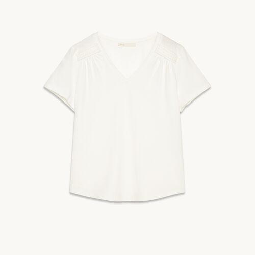T-Shirt aus Baumwolle mit Details - null - MAJE