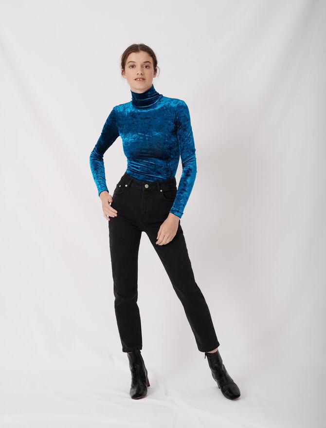 Gerade Jeans im Mom-Stil mit hohem Bund - Hosen & Jeans - MAJE