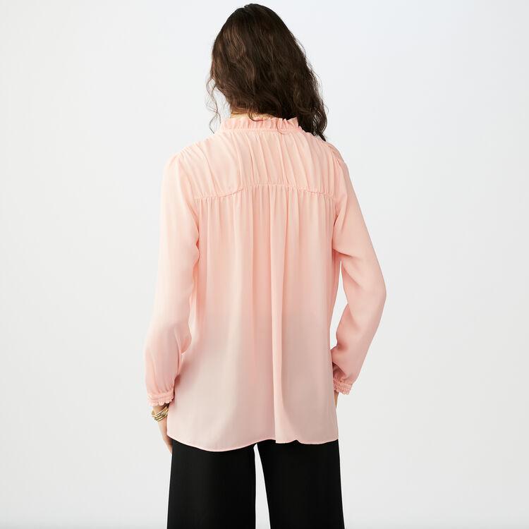 Blouse shirt with drawstring : Hemden farbe Rosa