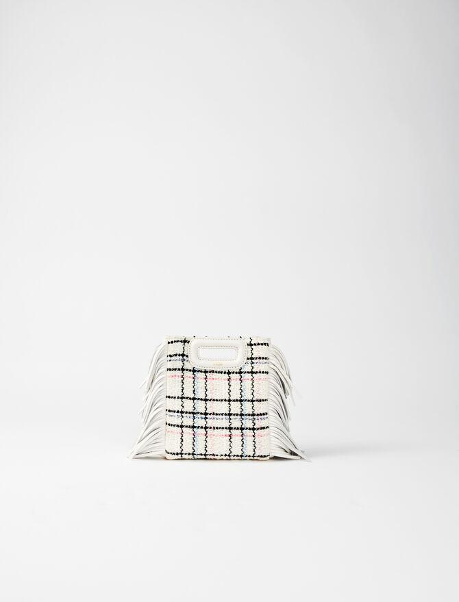 M Mini-Tasche aus Tweed mit Kette -  - MAJE