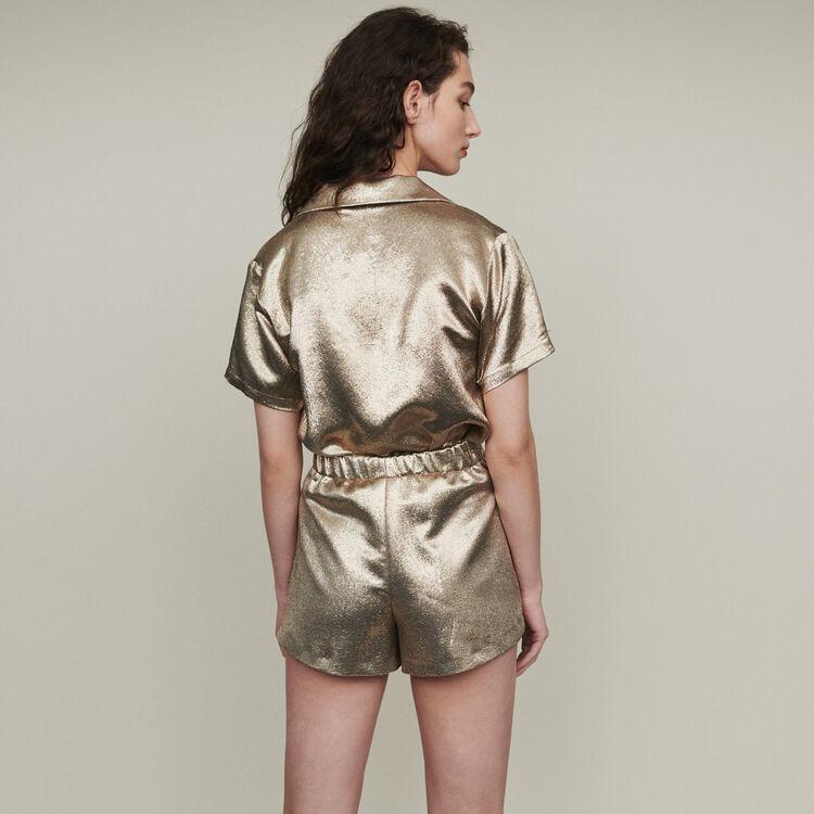 Shorts aus Seidengemisch : Röcke & Shorts farbe Gold
