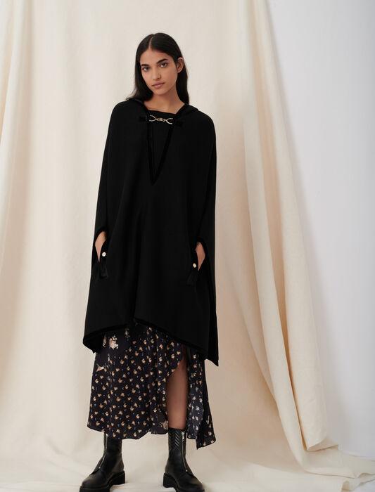 Cape-Cardigan mit Trensendetails : Pullover & Strickjacken farbe Schwarz