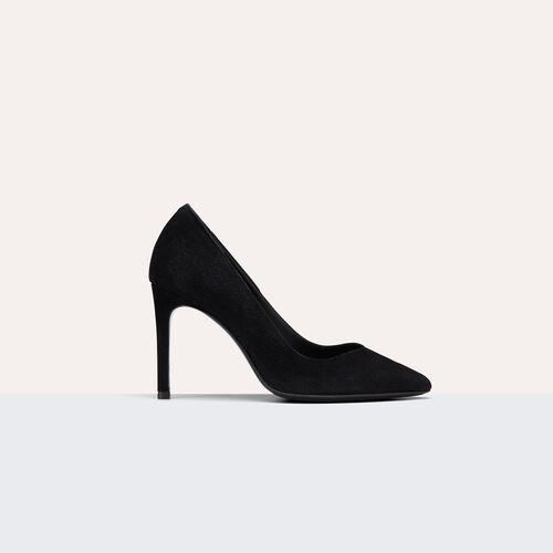 Hohe Pumps aus Veloursleder : Schuhe farbe Schwarz
