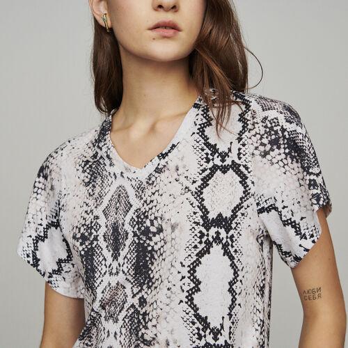 T-Shirt mit Python-Print : T-Shirts farbe IMPRIME