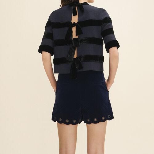Pullover aus maschenfestem Strick : Pulls & Cardigans farbe Marineblau