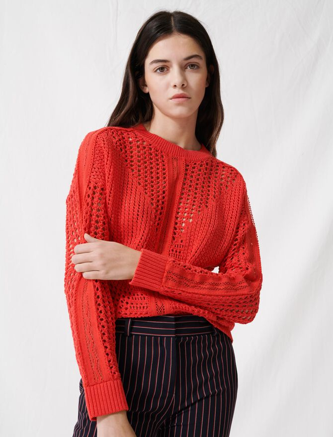 Pullover im Häkelstil - Pullover & Strickjacken - MAJE