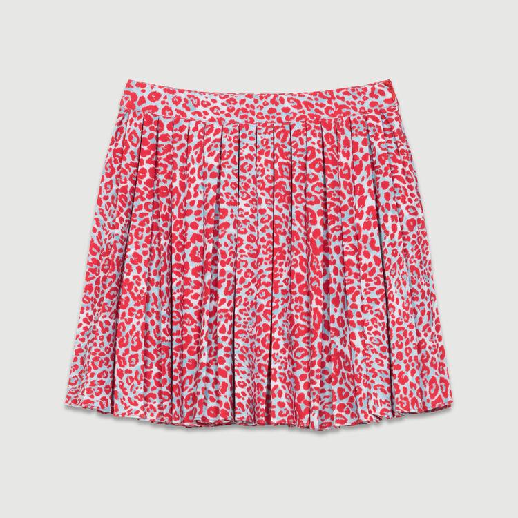 Plissee-Kleid mit Leoparden-Print : Röcke & Shorts farbe IMPRIME