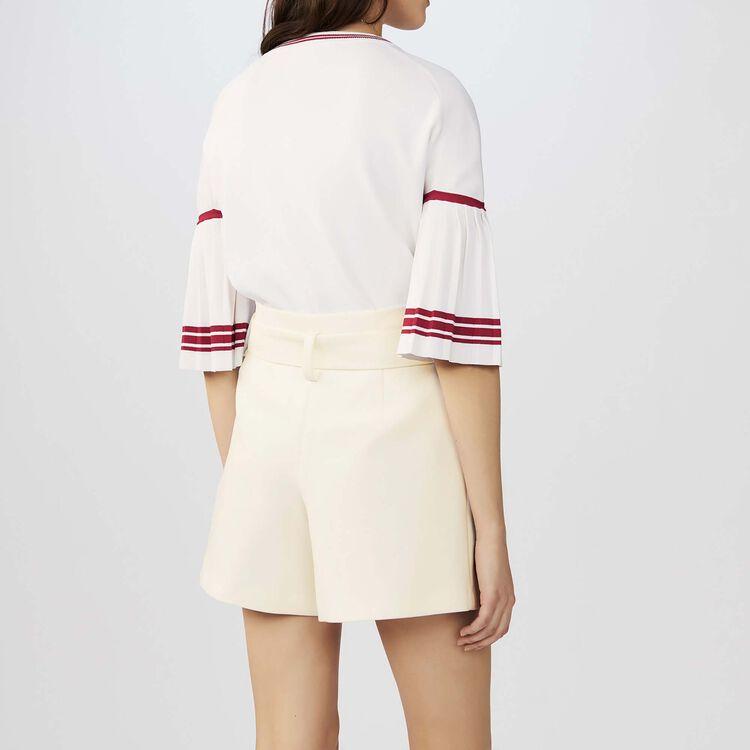 Krepp-Short mit hohem Bund : Röcke & Shorts farbe Weiss