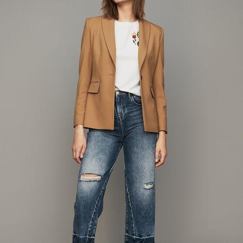 Jacke mit Paspeltaschen : Blazers farbe Camel
