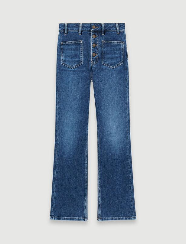 마쥬 청바지 MAJE Ausgestellte Jeans mit Doppel-Taschen,Blau
