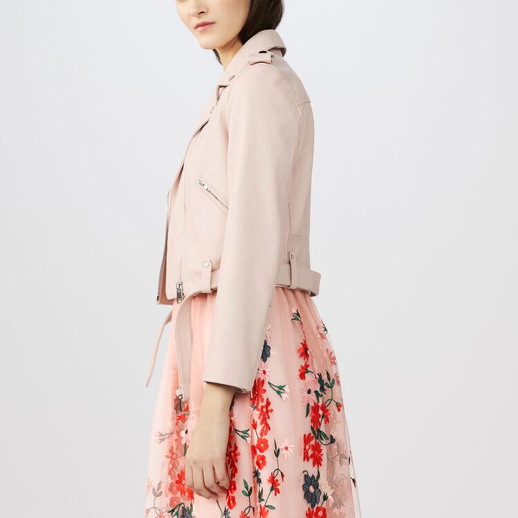 Lederjacke im Perfecto-Stil : Jacken farbe Fleisch