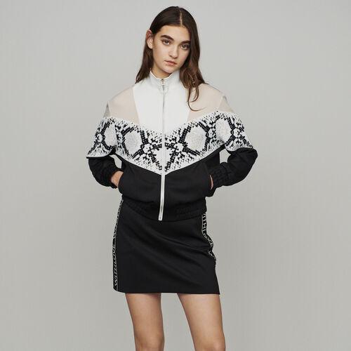 Sweatshirt mit Bänder mit Python-Print : Pullover & Strickjacken farbe IMPRIME