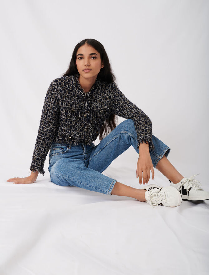 High-Waist Jeans -  - MAJE