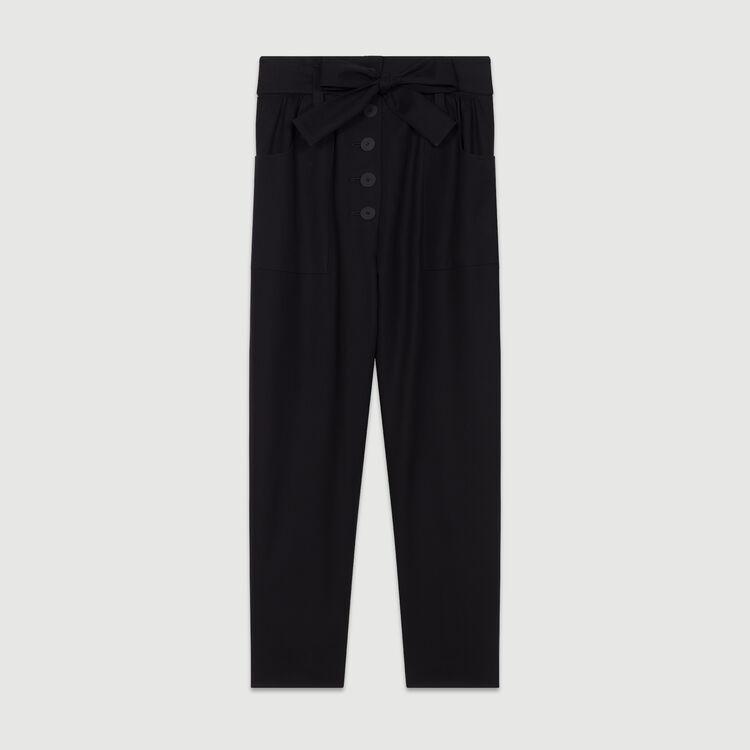 Weite Hose mit hohem Bund : Neue Kollektion farbe Schwarz