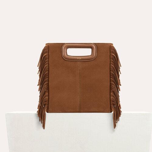M Tasche aus Veloursleder : Sommerkollektion farbe Schwarz