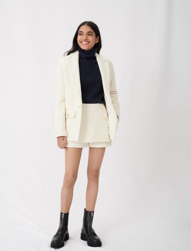 Taillierte Jacke in Tweed-Optik - Blazers - MAJE