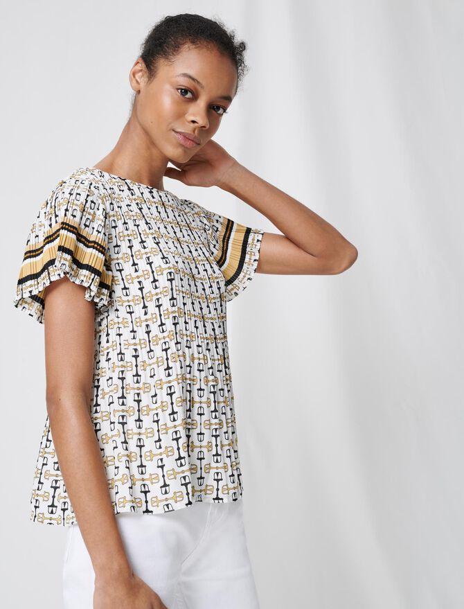 Smarte Plissee-Tunika mit Print - Tops & Hemden - MAJE