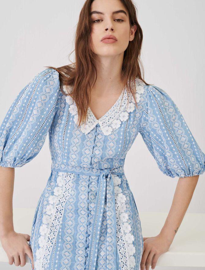 Kleid mit Borten in Kontrastfarbe - Kleider - MAJE