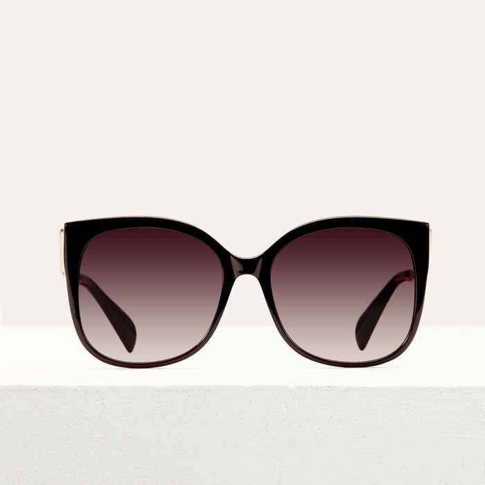Sonnenbrille im Retrostil : Alles einsehen farbe Burgunderrot