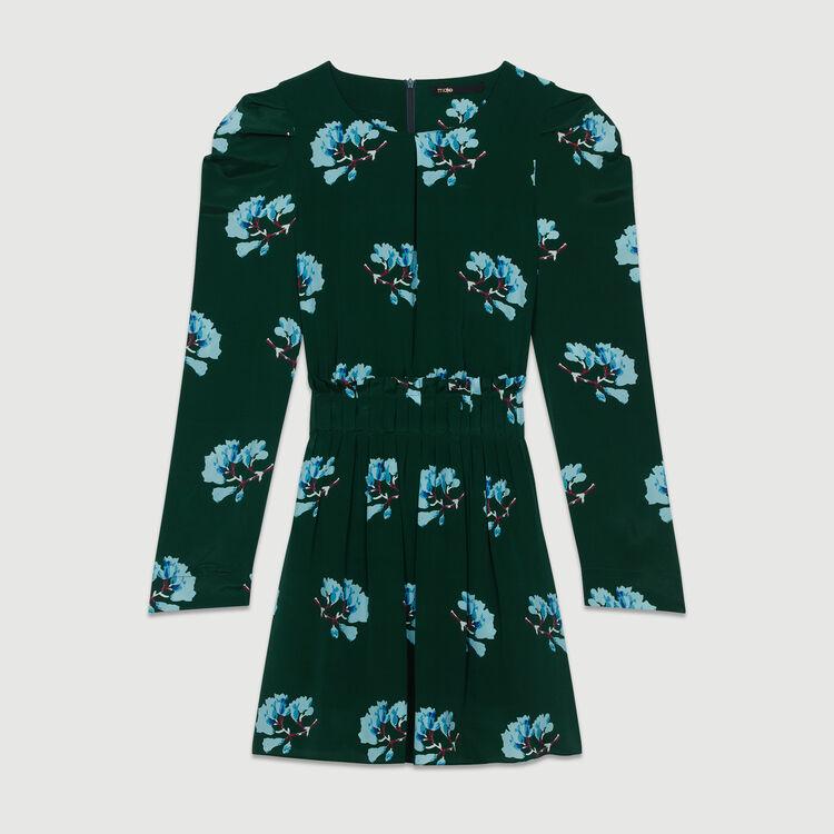 Kurzes Kleid mit Blumen-Print : Röcke & Shorts farbe IMPRIME