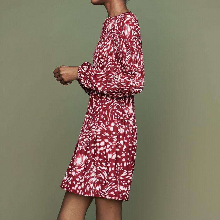 Plissee-Kleid mit edlem Print : Kleider farbe IMPRIME