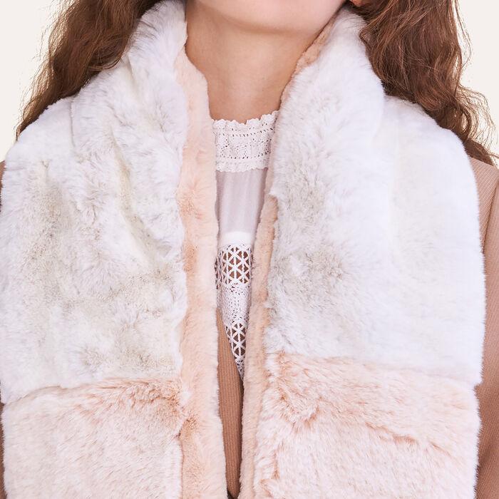 Bufanda de falso pelo bicolor : Accessoires farbe Zweifarbig