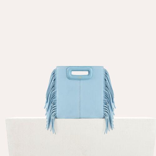 M mini Tasche aus Veloursleder : Sommerkollektion farbe Himmelblau