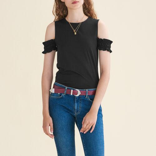 Ärmelloses Top mit freien Schultern : T-shirts farbe Schwarz