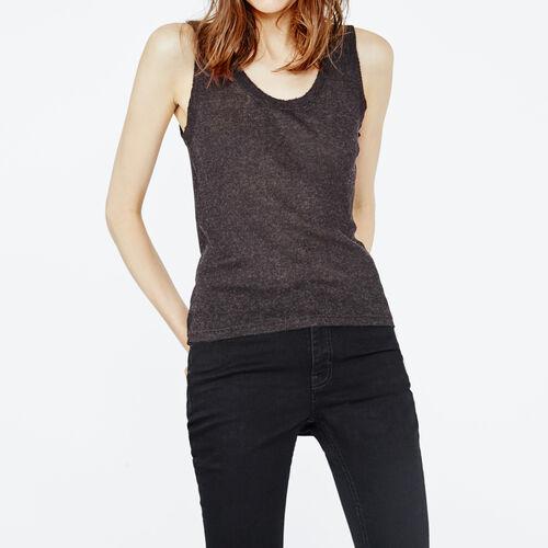 Ärmelloses, geripptes t-shirt : T-shirts farbe Anthrazit