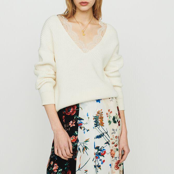 Oversize Pullover mit Spitze - Alles einsehen - MAJE
