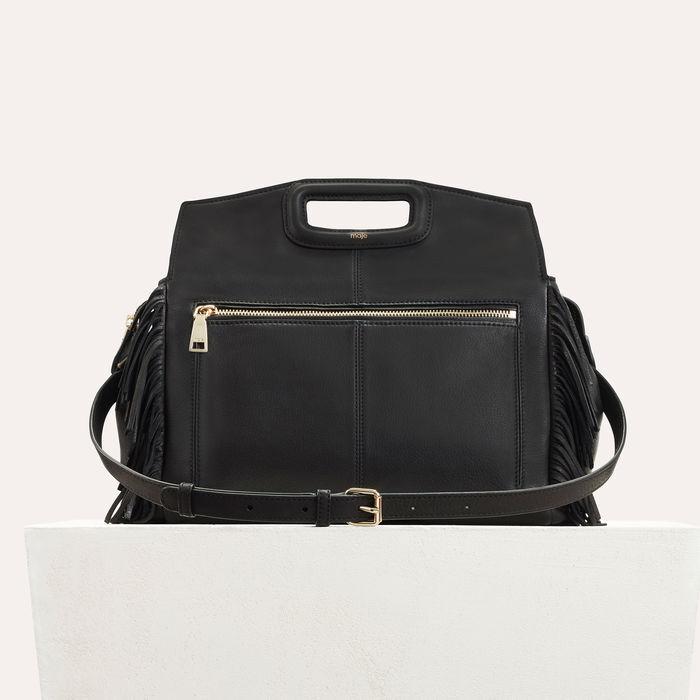 Schultertasche aus Leder : M Tasche farbe Schwarz
