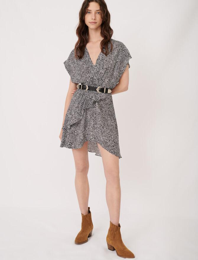 Asymmetrisches Kleid mit Animalprint - Kleider - MAJE