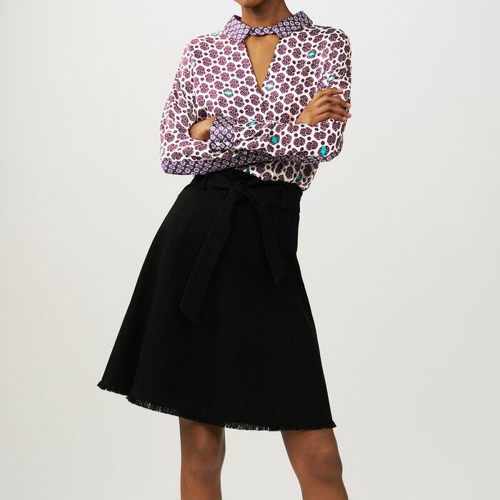 Ausgestellte Krepp-Hose : Röcke & Shorts farbe Schwarz