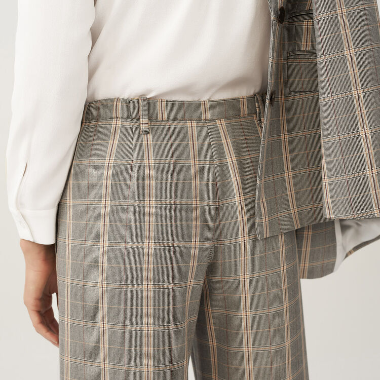 Weite Hose mit Karomuster : Hosen farbe CARREAUX