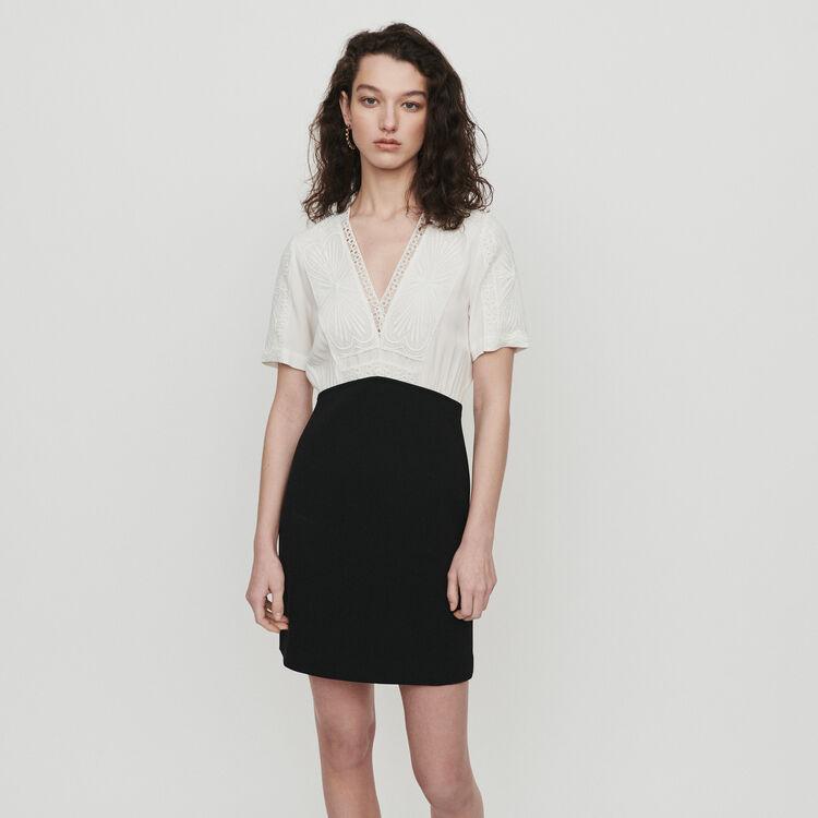 Guipure-Kleid : Kleider farbe  Off-White