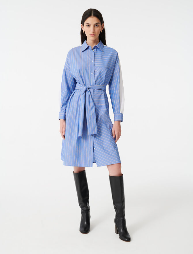 Hemdkleid mit Streifenprint - Kleider - MAJE