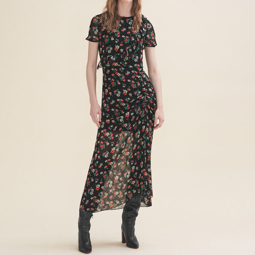 Langes Kleid mit Print : Robes farbe Print