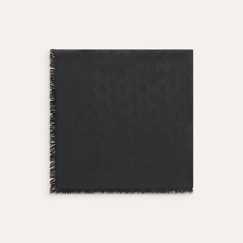XXL-Schal aus Baumwollgemisch : Schals & Rundschals farbe Schwarz