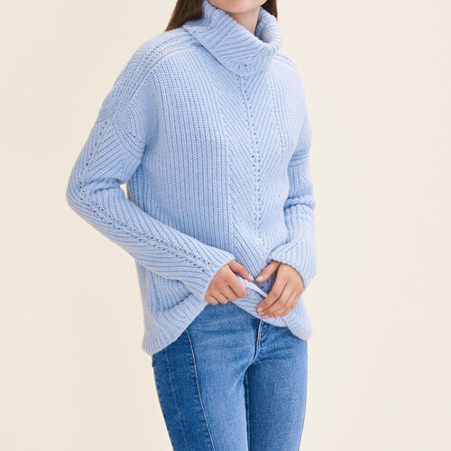 Oversize-Rollkragenpullover : Pulls & Cardigans farbe Himmelblau